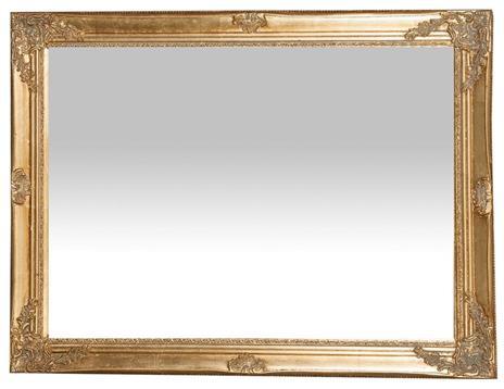 Specchiera da appendere verticale/orizzontale L62xPR3xH82 cm finitura oro anticato. - 2