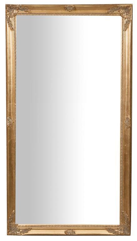 Specchiera da appendere verticale/orizzontale L72xPR3xH132 cm finitura oro anticato.