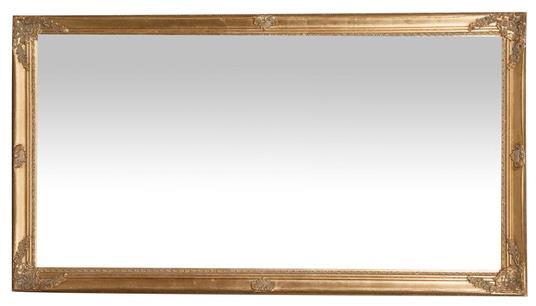 Specchiera da appendere verticale/orizzontale L72xPR3xH132 cm finitura oro anticato. - 2