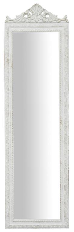 Specchiera da terra L40xPR3xH140 cm finitura bianco anticato.