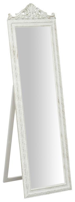 Specchiera da terra L40xPR3xH140 cm finitura bianco anticato. - 2