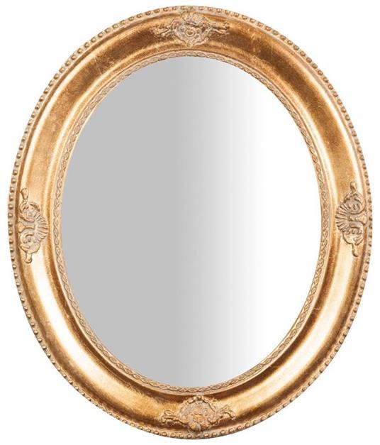 Specchiera da appendere verticale/orizzontale L54xPR3xH64 cm finitura oro anticato.