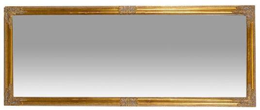 Specchiera da appendere verticale/orizzontale L72xPR3xH180 cm finitura oro anticato. - 2