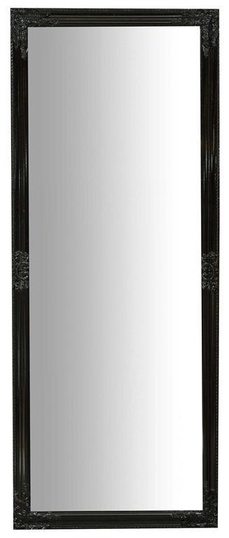 Specchiera da appendere verticale/orizzontale L72xPR3xH180 cm finitura nero lucido.