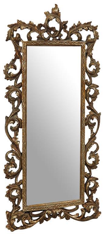 Specchiera da appendere L23xPR2xH50 cm finitura oro anticato.
