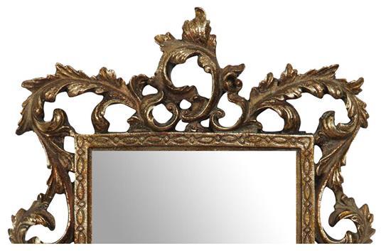Specchiera da appendere L23xPR2xH50 cm finitura oro anticato. - 3