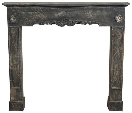 Cornice camino in legno finitura anticata 114x20x102 cm - 2