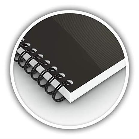Oxford - H002980 - Blocchi a spirale Office Smart Black - Oxford A4 5 mm (confezione 5) - 2