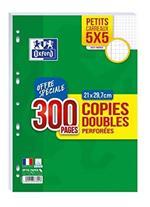 Oxford Scolaire 400019179fogli doppio perforati A421x 29.7cm 90g, a quadretti 5x 5200pagine + 100gratuite