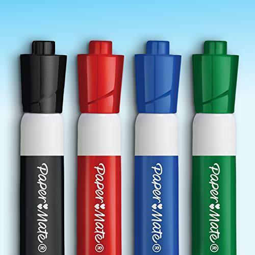 Papermate Pennarelli per Lavagna Quasi Inodore, Punta a Proiettile, Inchiostro Nero, 12 Pezzi - 2