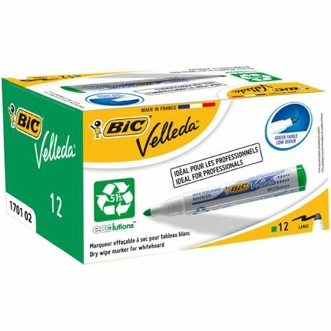 BIC Whiteboard Velleda ECOlutions 1701 evidenziatore 12 pezzo(i) Verde - 2
