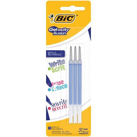 BIC Refill inchiostro cancellabile Gelocity Illusion blu 3 pezzi