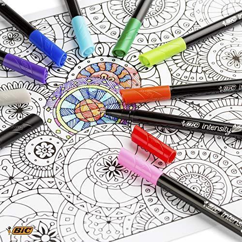 BIC 953034Intensity Set di 10penne punta in feltro di inchiostro a base di scrittura 0,4mm colori assortiti - 3