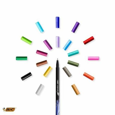 BIC 953035 marcatore Fine Nero, Blu, Marrone, Verde, Grigio, Azzurro, Verde chiaro, Lillà, Arancione, Rosa, Porpora, Rosso, Giallo 20 pezzo(i) - 2