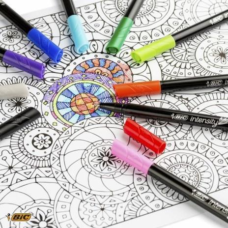 BIC 953035 marcatore Fine Nero, Blu, Marrone, Verde, Grigio, Azzurro, Verde chiaro, Lillà, Arancione, Rosa, Porpora, Rosso, Giallo 20 pezzo(i) - 5