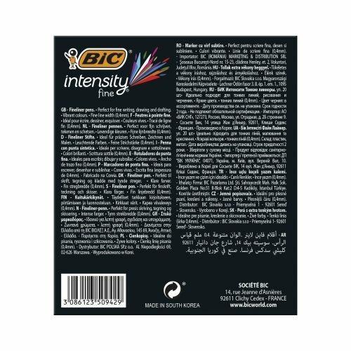 BIC 953035 marcatore Fine Nero, Blu, Marrone, Verde, Grigio, Azzurro, Verde chiaro, Lillà, Arancione, Rosa, Porpora, Rosso, Giallo 20 pezzo(i) - 6