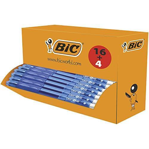 BIC gel-ocity originale–Penne inchiostro gel blu, confezione da 16+ 4