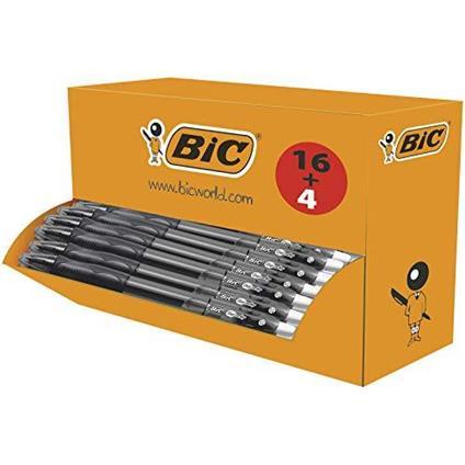 BIC Gel-ocity  Penne a inchiostro gel originali Box of 16 + 4 Nero