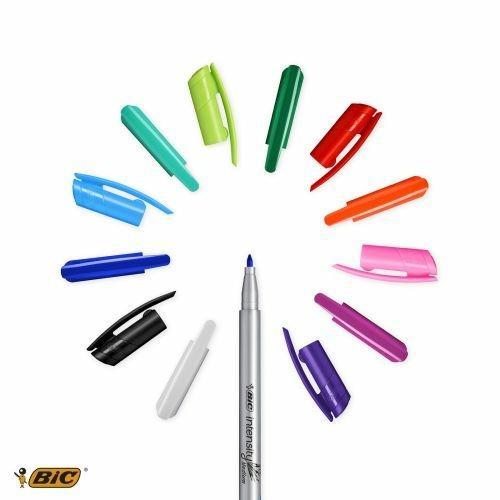 BIC 964893 marcatore Medio Nero, Blu, Verde, Grigio, Azzurro, Verde chiaro, Arancione, Rosa, Porpora, Rosso 12 pezzo(i) - 3