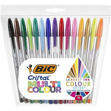 BIC Cristal Multicolour Penna a sfera 15 pezzo(i)