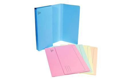 Exacompta 47970E cartella A4 Cartoncino Blu, Verde, Arancione, Rosa, Giallo