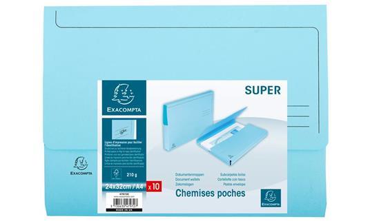 Exacompta 47972E cartella A4 Cartoncino Blu