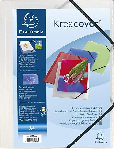 Chemise a Elastiques 3 Rabats Polypropylene Opaque Krea Cover - A4