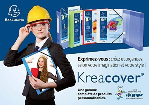 Chemise a Elastiques 3 Rabats Polypropylene Opaque Krea Cover - A4 - 2