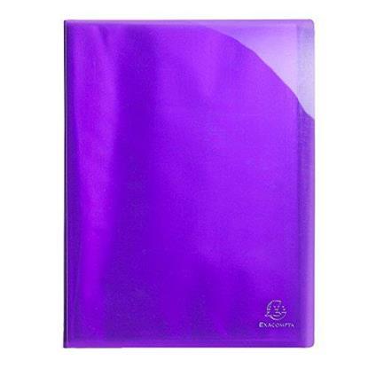 Exacompta 85876e–Raccoglitore a 40Buste, A4, colore: viola