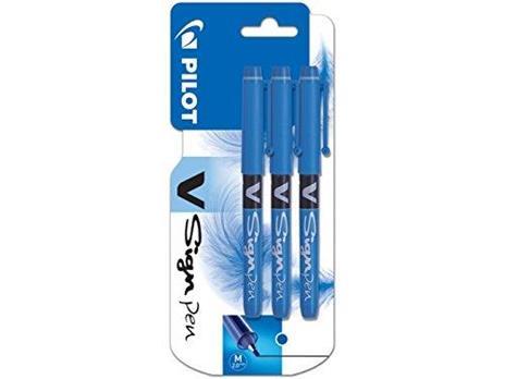 Pilot V Sign Confezione di 3 penne con punta in feltro media blu