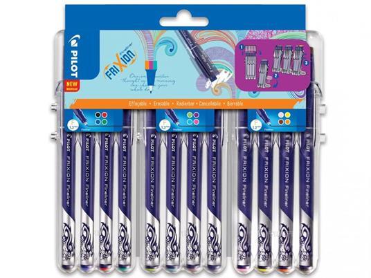 Pilot FriXion Fineliner penna tecnica Nero, Blu, Marrone, Verde, Azzurro, Lime, Rosa, Rosso, Viola, Giallo Fine 12 pezzo(i)