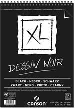 Album XL Black Canson 40 fogli spiralato lato corto A4 150g