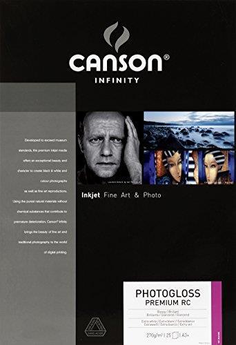Canson Infinity PhotoGloss Premium RC carta fotografica Bianco Lucida A3+