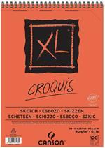 Album XL Croquis Canson 120 fogli spirale lato corto A4 90g