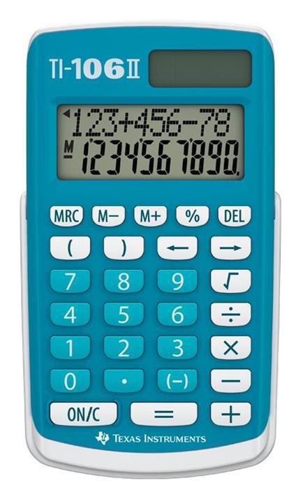 Texas Instruments TI 106-II calcolatrice Tasca Calcolatrice di base Blu, Bianco