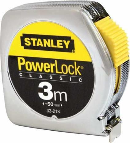 Stanley 0-33-218 rotella metrica 3 m Metallico, Giallo