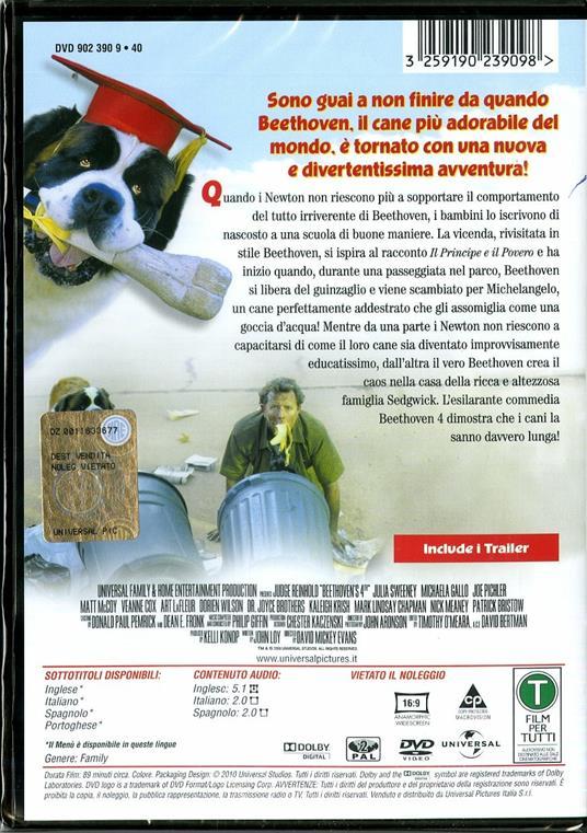 Beethoven 4 (DVD) di David Mickey Evans - DVD - 2