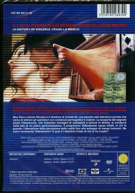 Videodrome di David Cronenberg - DVD - 2