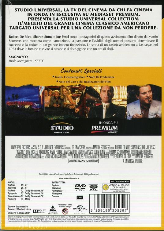 Casinò di Martin Scorsese - DVD - 2