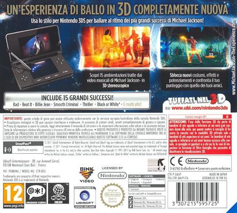 Michael Jackson The Experience - 3DS - 3