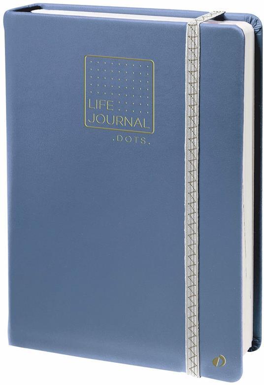 Taccuino Quo Vadis Life Journal puntinato. Blu-Grigio