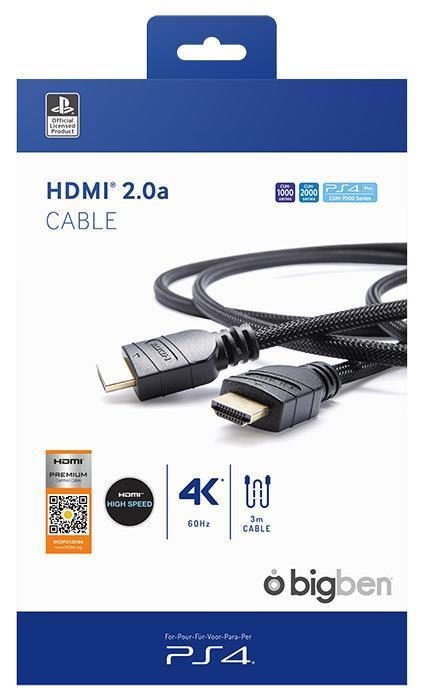 BB Cavo HDMI 2.0 3m Lic. Sony PS4
