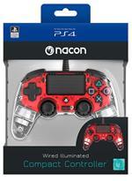 NACON Ctrl Wired Rosso Luminoso PS4