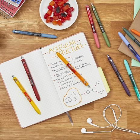 Penna a inchiosto a scatto Papermate Inkjoy Gel punta da 0,7 mm Colori Assortiti - Blister da 6 - 2