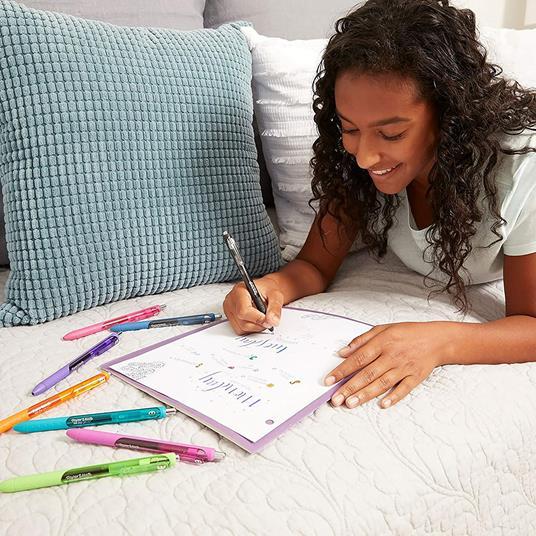 Penna a inchiosto a scatto Papermate Inkjoy Gel punta da 0,7 mm Colori Assortiti - Blister da 6 - 3
