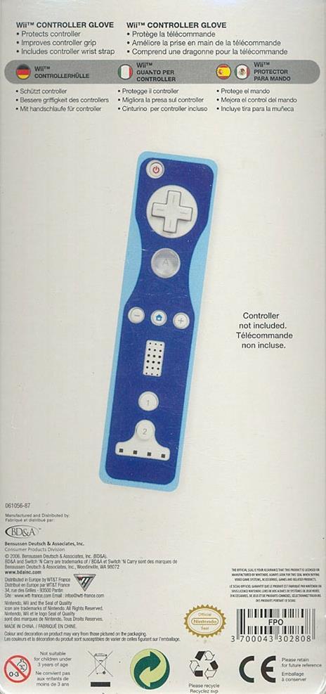 BD&A WII Controller Glove - 2