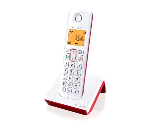 Alcatel S250 Telefono DECT Rosso, Bianco Identificatore di chiamata