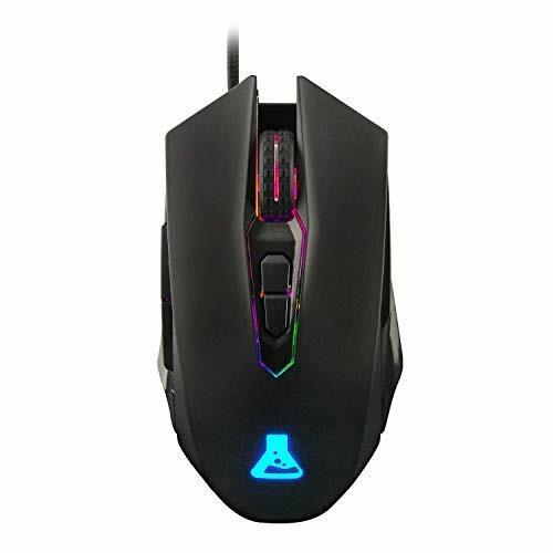 THE G LAB KULT RADIUM Mouse Gaming ad Alto Rendimento Reattivo e Durevole 4800 DPI 7 Pulsanti Programmabili Nero con Retroilluminazione RGB