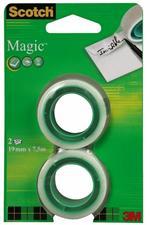 3M Post-it. 2 Ricariche Di Nastro Scotch Magic 810 In Pack Appendibile