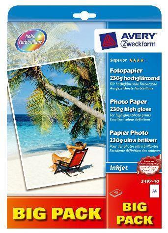 Avery 2497-40 carta fotografica Molto lucida A4